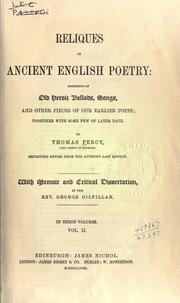 Cover of: Reliques of ancient English poetry | Thomas Percy