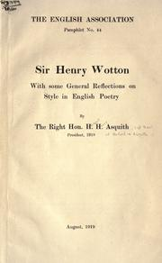 Cover of: Sir Henry Wotton