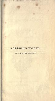 Miscellaneous works by Joseph Addison