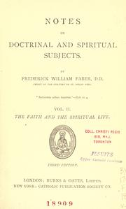 Cover of: Notes on doctrinal and spiritual subjects