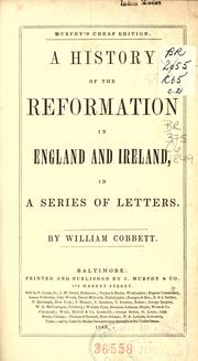 Cover of: A history of the reformation in England and Ireland, in a series of letters