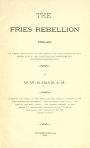 Cover of: The Fries rebellion, 1798-99