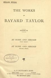 Cover of: The  works of Bayard Taylor