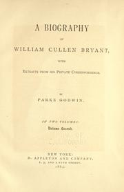 Cover of: A biography of William Cullen Bryant