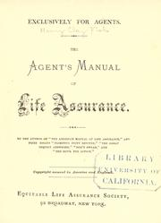 Cover of: The agent's manual of life assurance