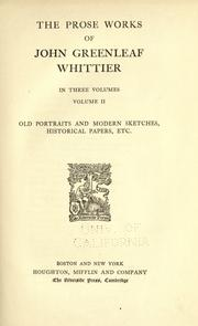 Cover of: The complete writings of John Greenleaf Whittier