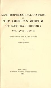 Cover of: Costumes of the Plains Indians