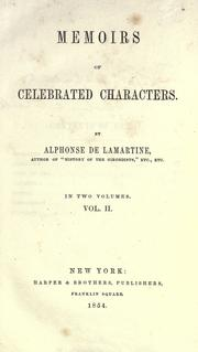 Cover of: Memoirs of celebrated characters