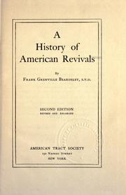 Cover of: history of American revivals. | Frank Grenville Beardsley