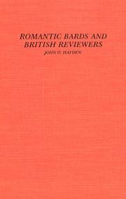 Cover of: Romantic bards and British reviewers