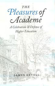 Cover of: The pleasures of academe