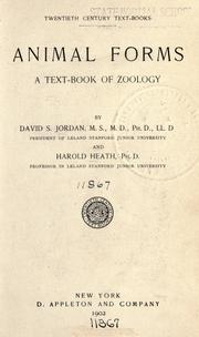 Cover of: Animal forms: a text-book of zoology