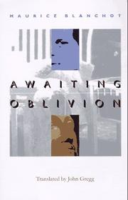 Cover of: Awaiting oblivion =: L'attente l'oubli