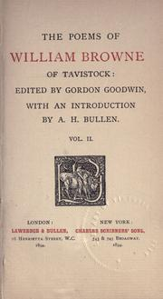 Cover of: Poems of William Browne of Tavistock