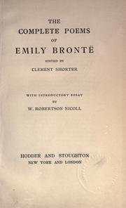 Cover of: The complete poems of Emily Brontë