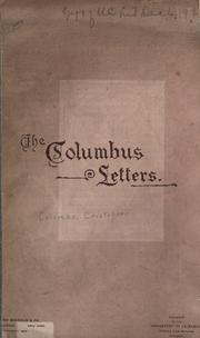 Cover of: The Columbus letters: Souvenir of the monastery of La Rabida, World's Fair grounds, Chicago.