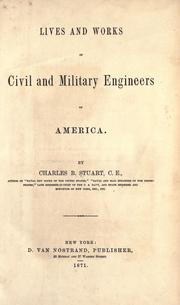 Cover of: Lives and works of civil and military engineers of America