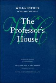 Cover of: The professor's house