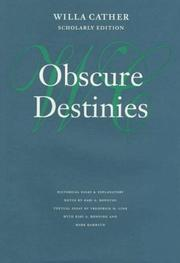 Cover of: Obscure destinies