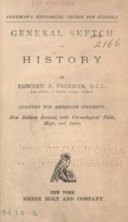 Cover of: General sketch of history