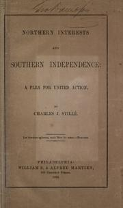 Cover of: Northern interests and southern independence
