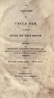 Cover of: The adventures of Uncle Sam | Frederick Augustus Fidfaddy