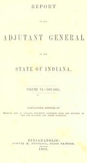 Cover of: Report of the adjutant general of the state of Indiana |