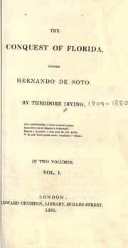 Cover of: The conquest of Florida under Hernando de Soto
