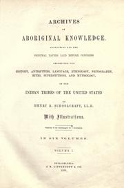 Cover of: Archives of aboriginal knowledge