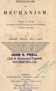 Cover of: Principles of mechanism