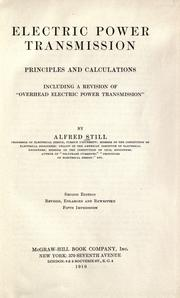 Cover of: Electric power transmission