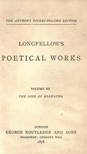 Cover of: Longfellow's poetical works