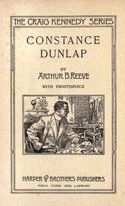 Cover of: Constance Dunlap, woman detective | Arthur B. Reeve