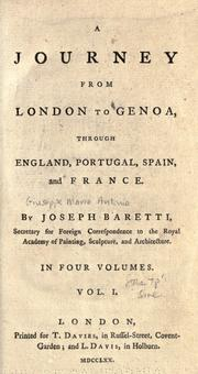 Cover of: A journey from London to Genoa: through England, Portugal, Spain, and France