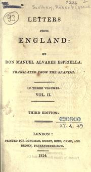 Cover of: Letters from England