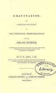Cover of: Gravitation: an elementary explanation of the principal perturbations in the solar system