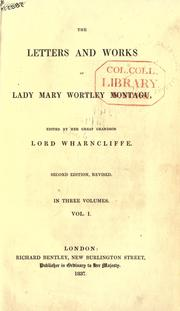Cover of: Letters and works