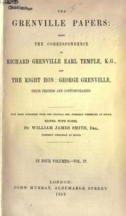 The Grenville papers by Richard Grenville-Temple, 2nd Earl Temple