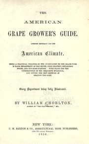 Cover of: American grape grower