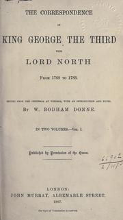 Cover of: Correspondence with Lord North from 1768 to 1783