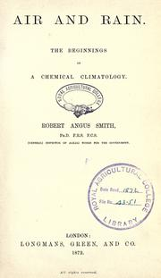 Cover of: Air and rain