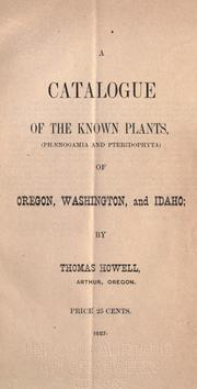 Cover of: A catalogue of the known plants
