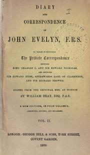 Cover of: Diary and correspondence of John Evelyn