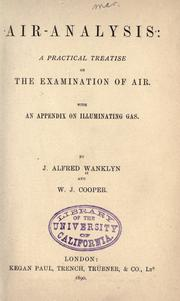 Cover of: Air-analysis