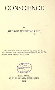 Cover of: Conscíence | George Winston Reid