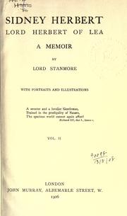 Cover of: Sidney Herbert, Lord Herbert of Lea