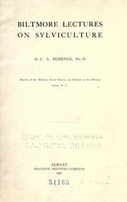 Cover of: Biltmore lectures on sylviculture