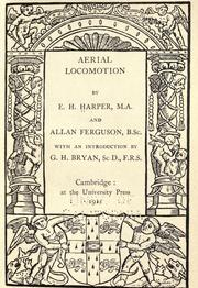 Cover of: Aerial locomotion by Edgar Henry Harper