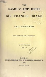 Cover of: The family and heirs of Sir Francis Drake