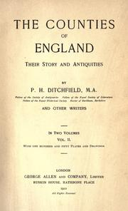Cover of: The counties of England, their story and antiquities